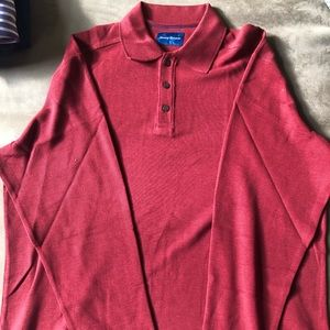 Collared sweater Tommy Bahama red